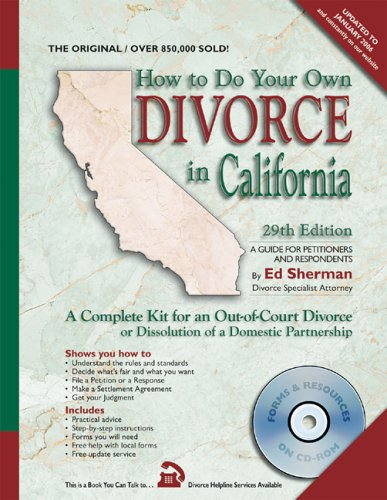 How To Do Your Own Divorce In California 29th Edition A Complete