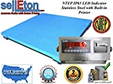 Selleton Ntep Legal Industrial 40'' X 40'' Floor Scale 2000 X .5 Lb W / Printer