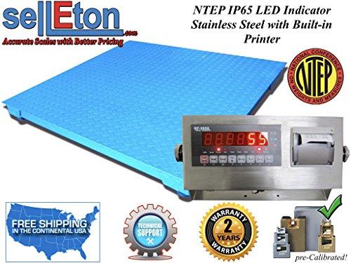 Selleton Ntep Legal Industrial 48'' X 48'' 4' X 4' Floor Scale 2000 X .5 Lb W / Printer by Selleton