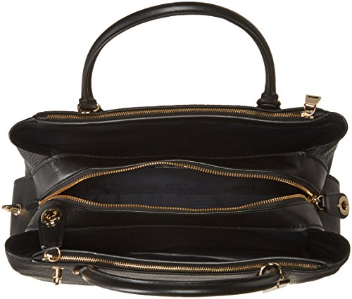 Womens Pebbled Li COACH Brooklyn Black 34 Carryall HdwxB57x