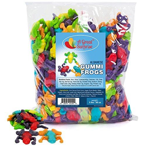Gummy Frogs - Gummi Rainforest Frogs - Bulk Candy Gummies 5 LB by A Great Surprise