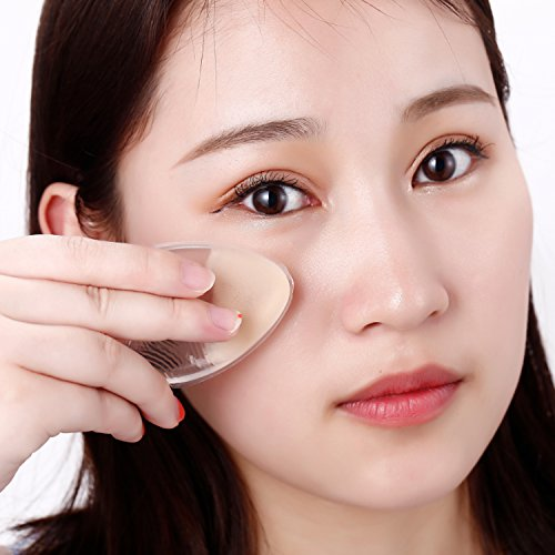 Lapack Original Silicone Makeup Sponge Applicator Blend Cosmetics Apply Liquid Or Cream Pack Of 3(Colorless Transparent)
