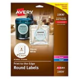 "Avery Print-To-The-Edge Round Labels, 2.5"" Diameter, Pack of 90 Labels (22830)"