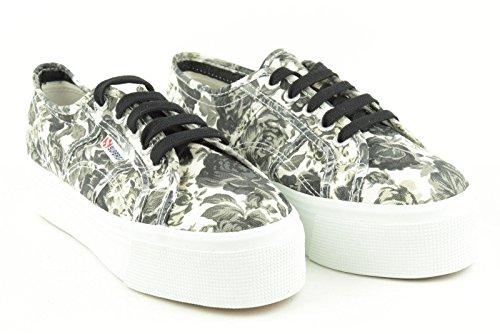 Superga 2790-Fantasy Cotw - Zapatillas de tela para mujer TAPESTRY BLACK-WHITE