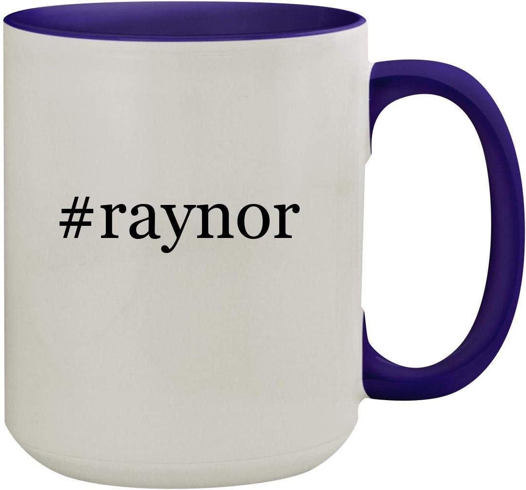 #raynor - 15oz Hashtag Ceramic Inner & Handle Colored Coffee Mug, Deep Purple