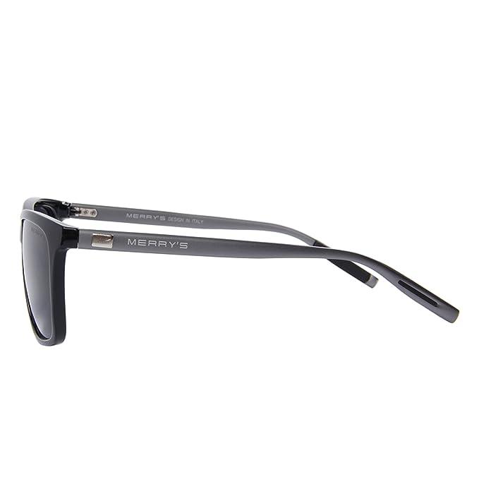 1af9f1fe2 Amazon.com: MERRY'S Unisex Polarized Aluminum Sunglasses Vintage Sun Glasses  For Men/Women S8286 (Black, 56): Clothing