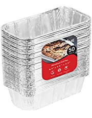 Aluminum Pans for Bread Loaf Baking (50 Pack) 8x4 Aluminum Foil Loaf Pan - 2 Lb Bread Tins, Standard Size, Compatible with Roadpro 12 Volt Portable Stove - Perfect for Baking Cakes, Meatloaf, Lasagna