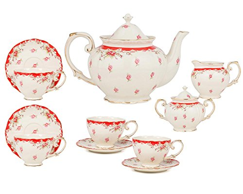 Gracie China by Coastline Imports 11-Piece Vintage Porcel...