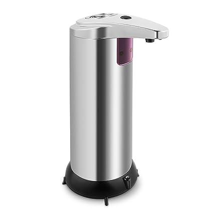 Dispensador de jabón liquido automático, de acero inoxidable dispensador de jabón automático con sensor infrarrojo