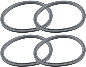Seal Ring Gaskets Replacement with Lip, Pack of 4, Seal Gasket Replacement for Bullet Blender, Gasket O-Ring Replacement for 900 Series, Compatible with Nutribullet