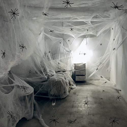 room full of cobwebs