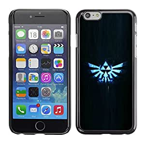 Ihec Tech Glowing Triforce - Z / Funda Case back Cover guard / for Apple Iphone 6 Plus 5.5