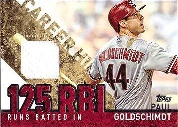 2015 Topps Career High Relics #CRH-PG Paul Goldschmidt Arizona Diamondbacks Card