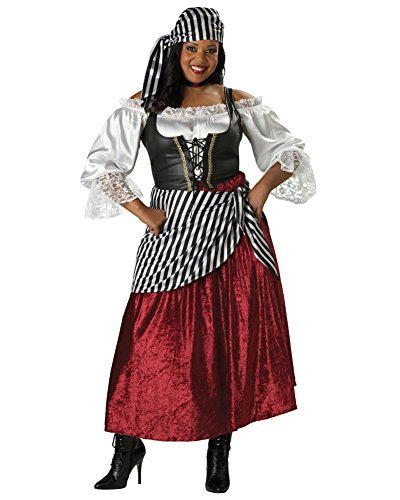 Plus Size Gypsy Wench Pirate Theatre Costumes Renaissance Style Sizes: (Ideas For Gypsy Halloween Costume)