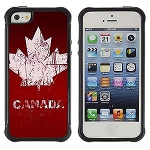 Suave TPU GEL Carcasa Funda Silicona Blando Estuche Caso de protección (para) Apple Iphone 5 / 5S / CECELL Phone case / / Canada Maple Leaf /