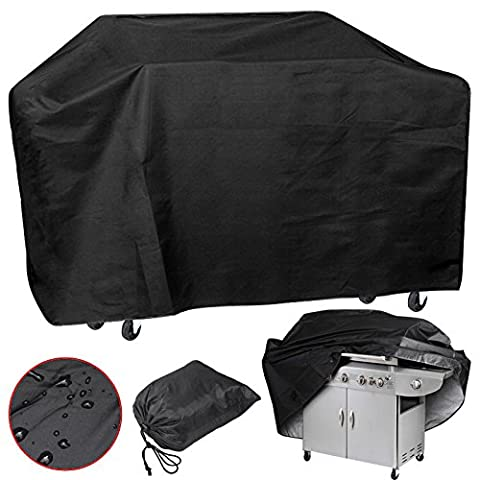 Xxl Large 75'' Wide Waterproof Bbq Polyester Cover Gas Barbecue Grill Protection Pq7ab Black Easy Carry And Storage Brand - Vinyl Trolley