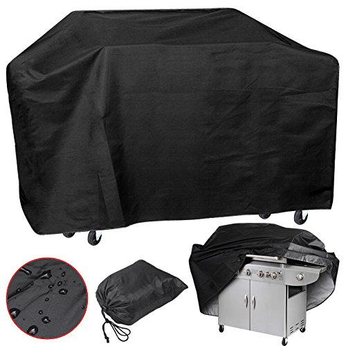 Xxl Large 75'' Wide Waterproof Bbq Polyester Cover Gas Barbecue Grill Protection Pq7ab Black Easy Carry And Storage Brand - Cheap Designer Uk Brands