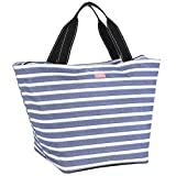 SCOUT Weekender Travel Tote Carry On Bag, Internal Zippered Pouch, Water Resistant, Zips Closed, Oxford Blues