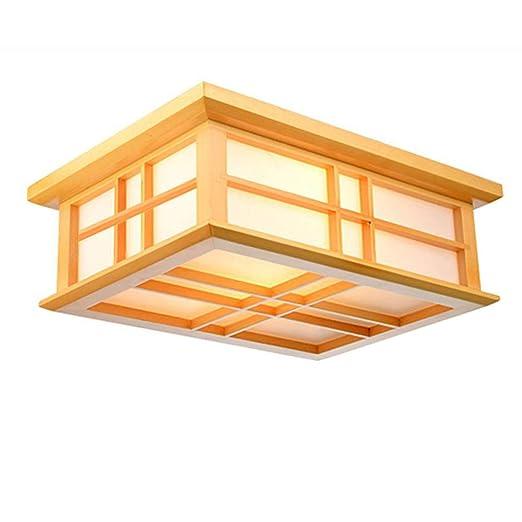 Lámparas de techo del dormitorio de madera Pastoral sencilla ...