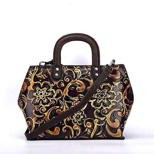 diagonale bag a capacità a mano Asdflina Viola per vintage Grande Colore l'uso Tote quotidiano Adatto mano Verde W4tnnIq