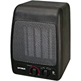 Electric Portable Heater, Optimus H-7000 Black Small Room Portable Heater Patio