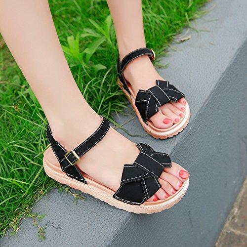 Confortable de Señoras Antideslizante Pajarita Calzado de YMFIE Sandalias Playa Dedos a Verano Moda 8xXdAqd
