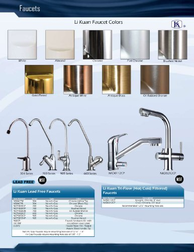 Non-Air Gap Luxury Drinking Water Faucet Chrome Finish RO Reverse Osmosis Ionizer 905 Series by Ionizer (Image #2)
