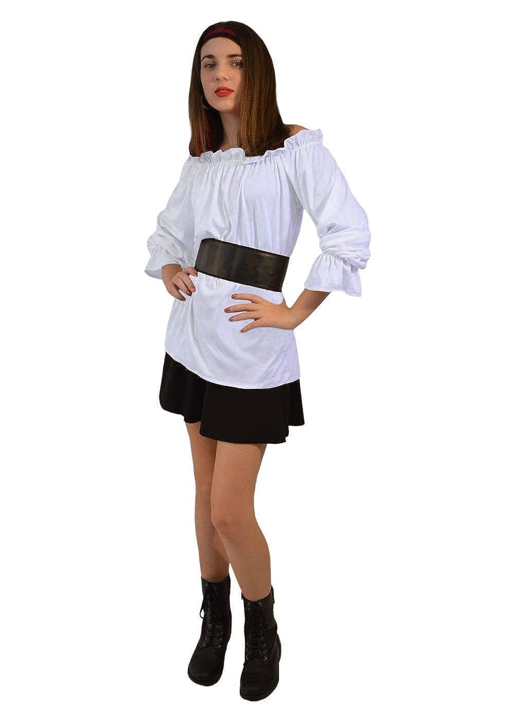 2a7fef496a Amazon.com: Renaissance Long Sleeve White Blouse Women Shirt: Clothing