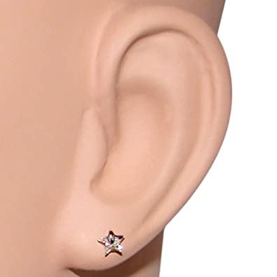 865699601a670 Star Crystal Stud Earrings Iwth Nylon Stud, Made in USA!, in Crystal with  Clear Finish