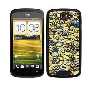 FUNDA CARCASA PARA HTC ONE S DISEÑO DIBUJO MINION MINIONS AMARILLO MOD.2