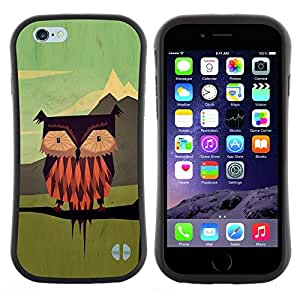 """Pulsar iFace Series Tpu silicona Carcasa Funda Case para Apple (4.7 inches!!!) iPhone 6 Plus / 6S Plus ( 5.5 ) , Dibujo Verde Vinagreta vintage"""""""
