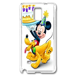 samsung note 4 cases, galaxy note 4 case PC Transparent With pattern Mickey Mouse