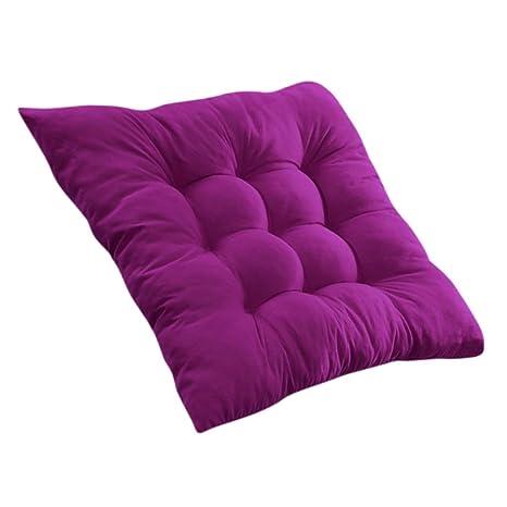Cojines de Asiento Cojín Amortiguador de Sillas Comedor Al Aire Libre Jardín Muebles Decoración - Púrpura