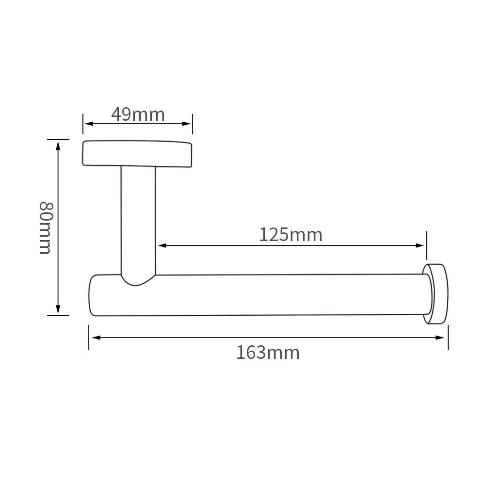 negro mate Acero inoxidable SUS304 resistente Dispensador de papel higi/énico de pared de UMI