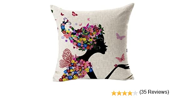 tia-ve oficina en casa sofá funda de almohada cojín carcasa mariposa niña, algodón, lino, Butterfly Girl, same