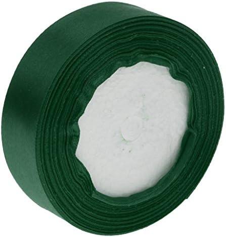 サテンリボン サテン リボン DIY 工芸品 ギフト パッキング インテリア 多色選べ - 濃い緑色