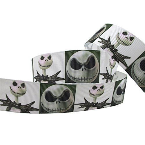 1 METRE HALLOWEEN JACK NIGHTMARE BEFORE CHRISTMAS SKULL SKELETON BLACK CHARACTER CARTOON RIBBON 1