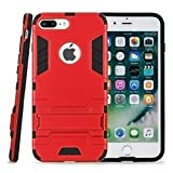 Kit Me Out CAN® Apple iPhone 7 Plus [Heavy Duty] Dual Layer [Drop Protection/Shock Absorption Technology] Protective Case Cover Skin Pouch - Marsala Red
