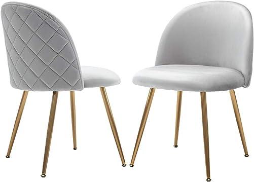 Guyou Modern Plush Velvet Accent Chair