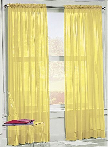2pc-yellow-voile-sheer-panel-drape-84-long-curtain-for-your-window-fully-stitched-and-hemmed-beautif