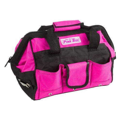 The Original Pink Box PB12TB 12-Inch Tool Bag, Pink