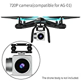 Drone 720P HD Camera, TEMI 2.4Ghz 4 CH WIFI FPV Camera 120 Wide Angle Live Video Stream Compatible for AG-01 RC Drone Quadcopter Helicopter