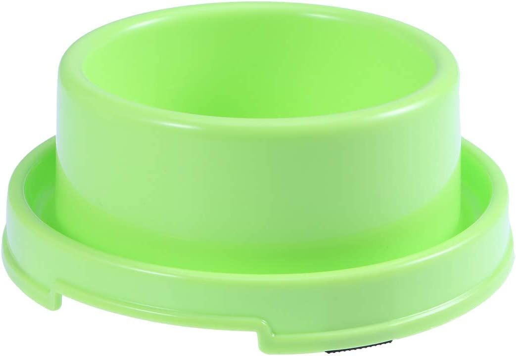 UKCOCO Tazón de Comida Anti-Hormiga para Mascotas, Cuenco de Comida de Agua de Plástico, Recipiente para Alimentos Antideslizante para Perros y Gatos (Verde)