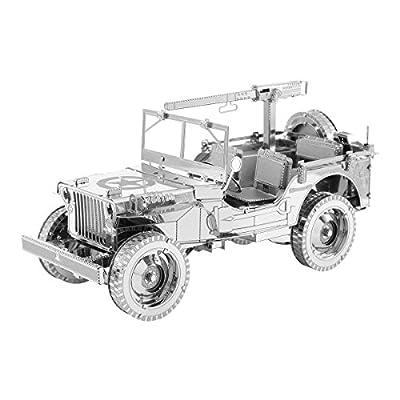 Metal Earth Fascinations Iconx Willys Jeep Puzzle In Metallo 3d Giocattoli Da Costruzione Modelli Di Taglio Laser