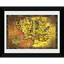 The Lord Of The Rings Framed Collector Poster - Classic Map Of Middle Earth (16 x 12 inches)
