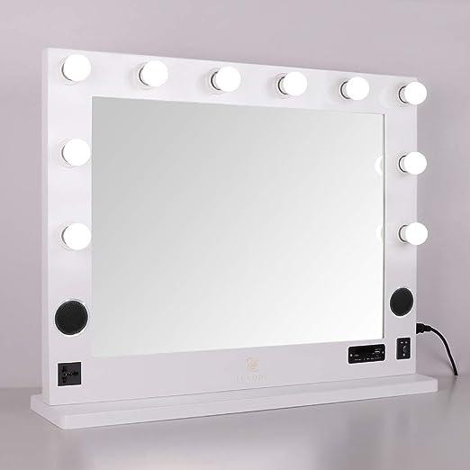 LUVODI Espejo de Maquillaje con Iluminación Espejo Hollywood con ...