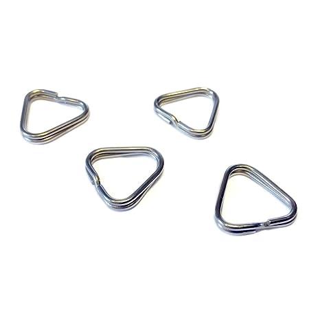 4 x Triangular anillas de llavero para cámara de fotos ...
