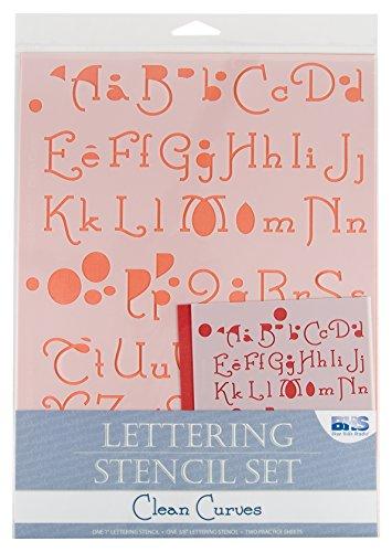 Blue Hills Studio BHS108SET Lettering Stencil Set Clean Curves
