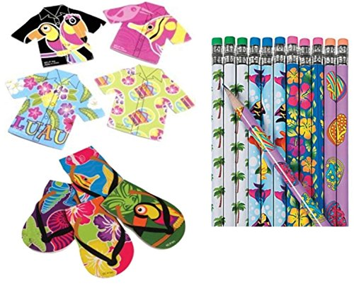Nikki's Knick Knacks Luau Tropical Notepads and Pencils ()