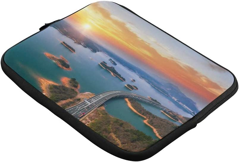 Unique Custom Awkward Road Near Sea Print Girl Laptop Case Soft Laptop Briefcase Bag for Men Briefcase Protective for MacBook Air 11
